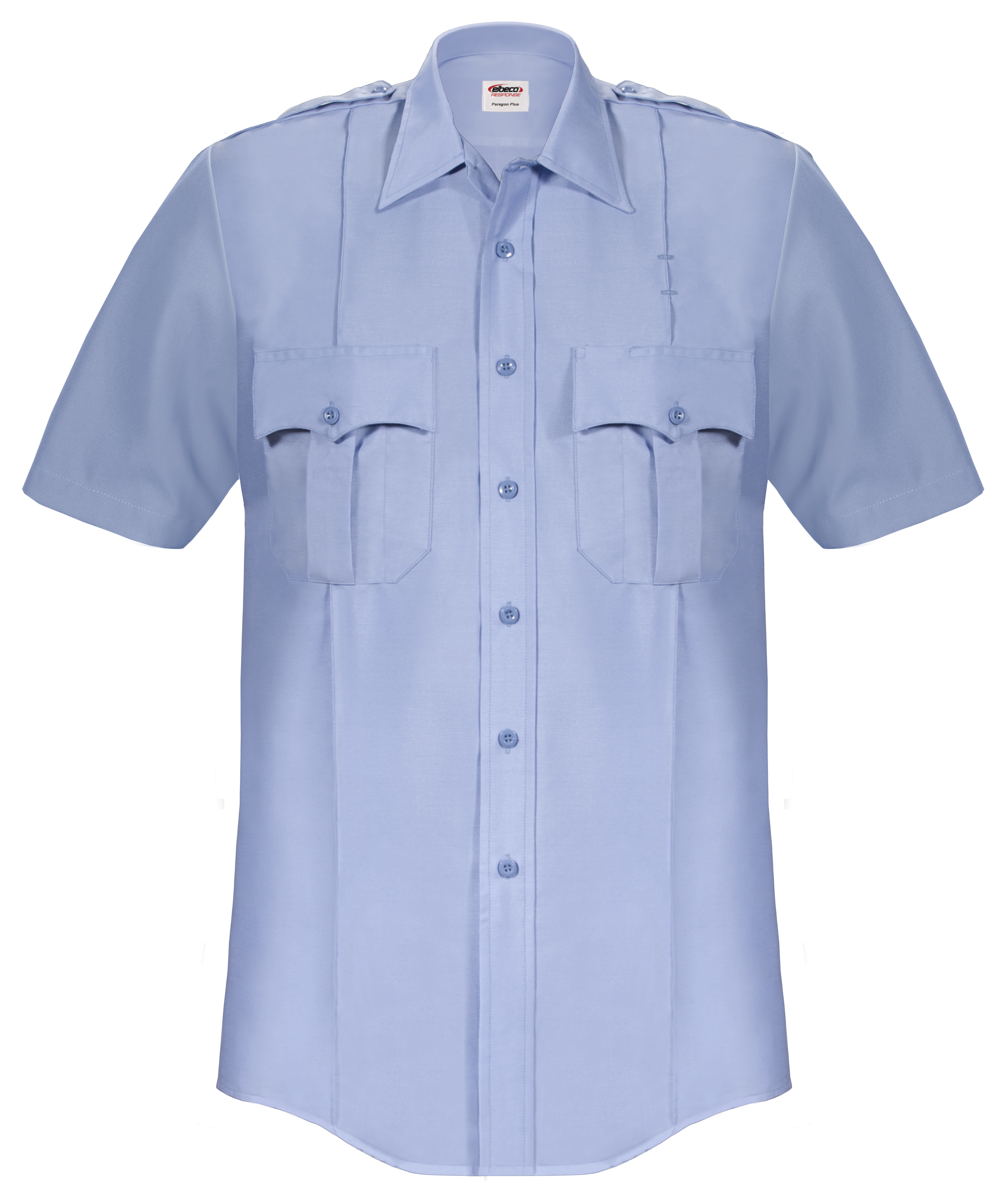 Elbeco Paragon Plus Short Sleeve Shirt - Light Blue